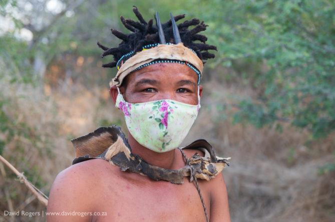 Bushman with mask